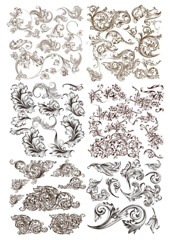 Swirl Decor Flourish Elements Free Vector