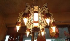 Laser Cut Antique Wooden Chandelier CNC Scroll Saw Plans PDF File