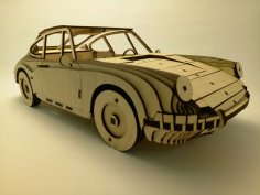 Laser Cut Porsche 911 1964 Wooden Model 3mm Free Vector