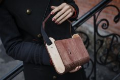 Laser Cut Ladies Wooden Clutch Bag 4mm Free Vector