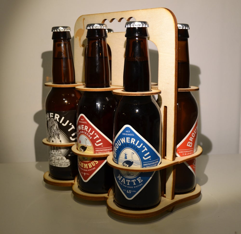 Laser Cut Beer Crate Six Pack 4mm Plywood SVG File