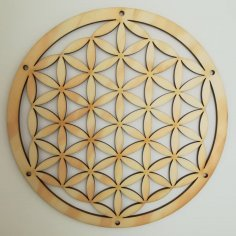 Laser Cut Flower Of Life Wallplate 40cm DXF File
