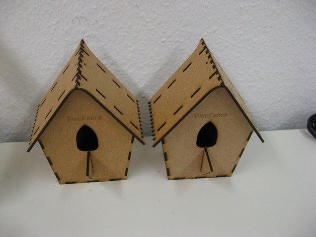 Laser Cut Cuckoo Birdhouse 3mm Free Vector