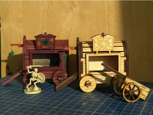 Laser Cut Gypsy Wagon Template Free Vector