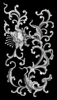 Plant Relief Art for CNC BMP File
