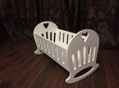 Laser Cut Doll Crib Template Free Vector