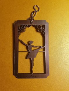 Laser Cut Dancing Lady Decoration Template Free Vector