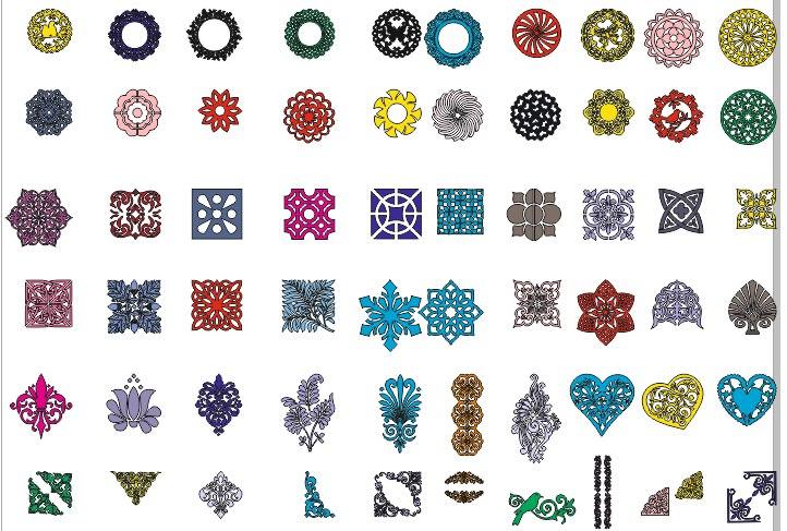 Laser Cut Decorative Designs Free Vector