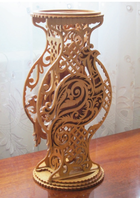 Laser Cut Decorative Vase Template Free Vector
