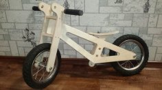 Wooden Balance Bike Laser Cut CNC Router Template DWG File