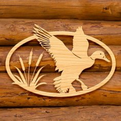 Laser Cut Duck Ornament DXF File