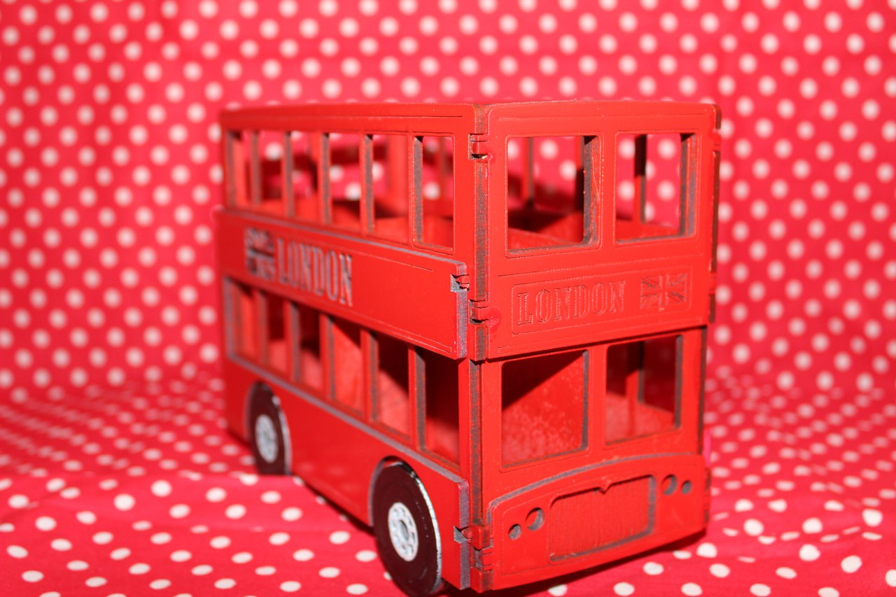 Laser Cut London Bus 3mm DXF File