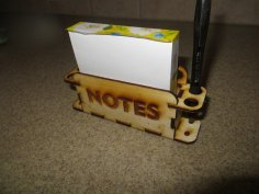 Laser Cut Pen and Notes Holder PDF File