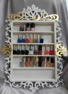 Laser Cut Nail Polish Rack Nail Polish Shelf Free Vector