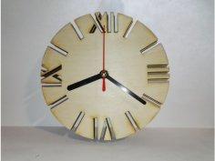 Laser Cut Wooden Clock Face Template SVG File