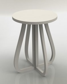 Laser Cut Stool Furniture Plans DXF File