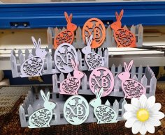 Laser Cut Diy Picket Fence Easter Basket Easy Easter Gift Basket Free Vector