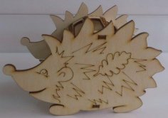 Laser Cut Hedgehog Pencil Holder Free Vector