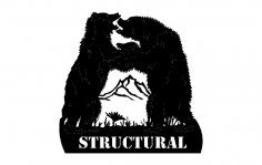 Dancing Bears Structural dxf File