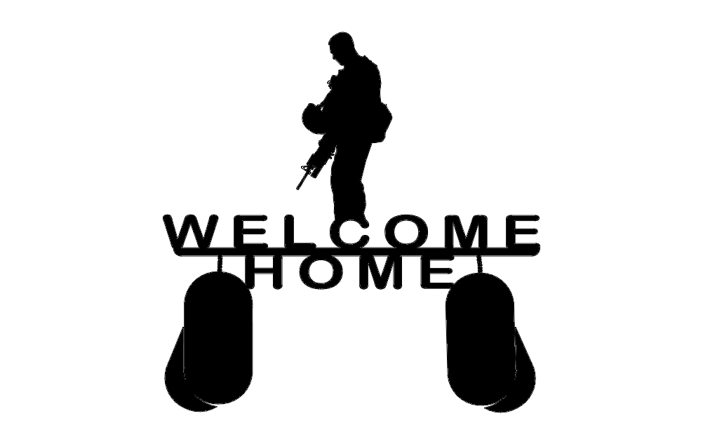 Welcome Home Soldier dxf File