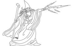 Wizard Silhouette dxf File