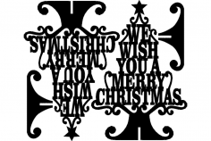 Stand Merry Christmas Wish dxf File