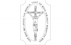 Jesus on Cross dxf File