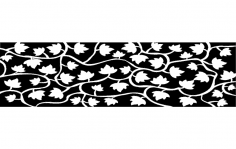 Leaf Pattern dxf File