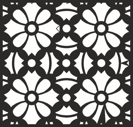Square Floral Pattern Vector CDR File