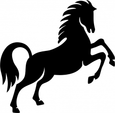 Prancing Horse Stencil Vector Free Vector