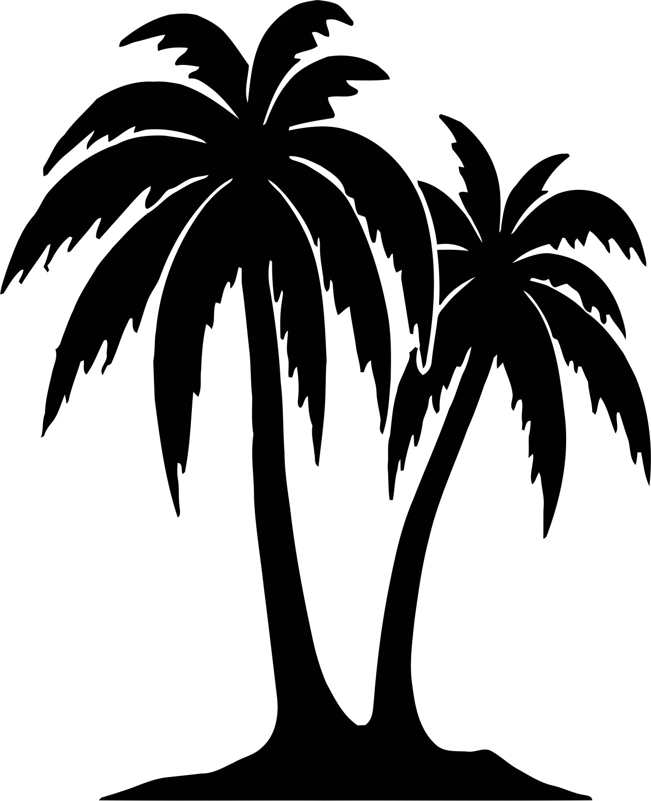 Tree Vinyl Decals Vector CDR File