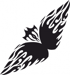 Floral tribal tattoo vector Free Vector