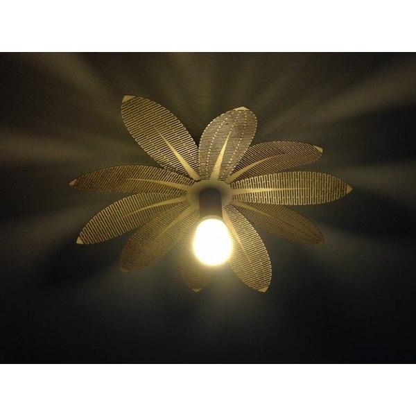 Flower Lamp Laser Cut DXF File