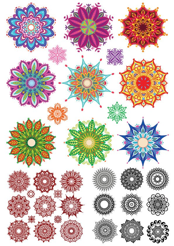 Indian Ornament Collection Free Vector