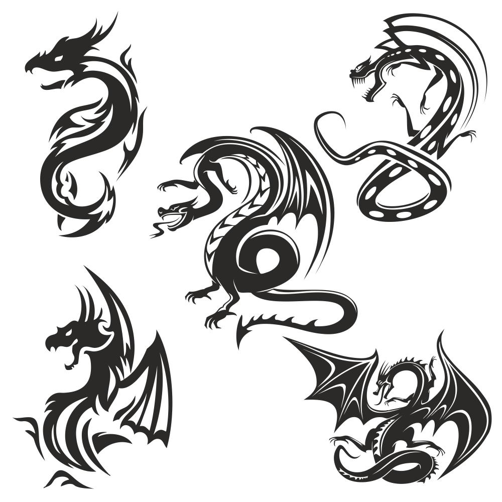 Dragons vector Free Vector