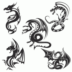 Dragons vector Free Vector