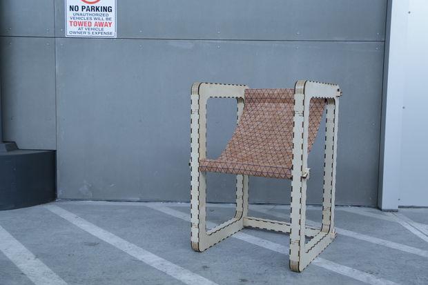 Modern Chair Laser Cut CNC Plan Free Vector