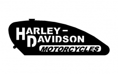 Harley Gas Tank dxf File