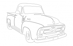 55 Ford Pu dxf File