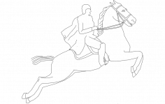 Horse with Rider dxf File