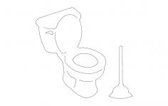Toilet dxf File