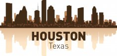 Houston Skyline Free Vector