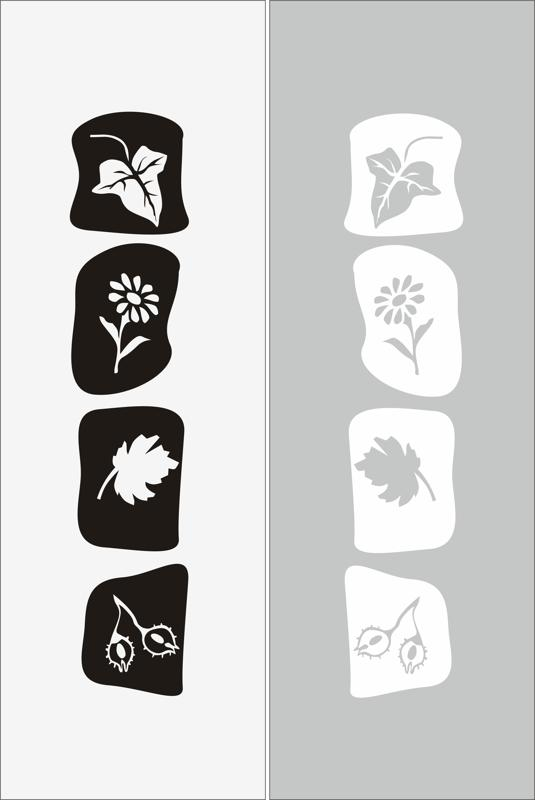 Abstract Floral Elements Sandblast Pattern Free Vector
