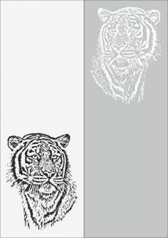 Sandblast Pattern Tiger Free Vector