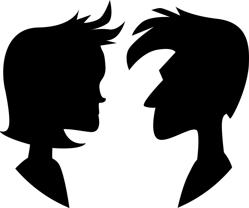 Couple Silhouette Free Vector