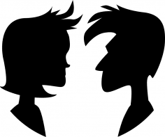 Couple Silhouette CDR File