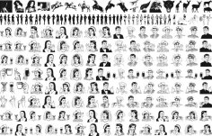 People Mix Lineart Pack Free Vector