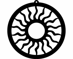 Design Sun Ornament 173 dxf File