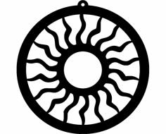 Design Sun Ornament 173 dxf File