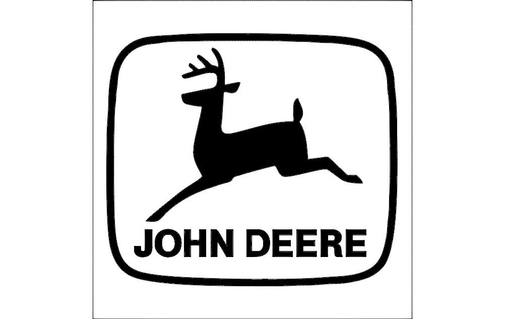 John deere Logo dxf File Free Download - 3axis co